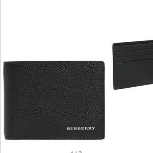 Black men's Burberry Wallet NWT